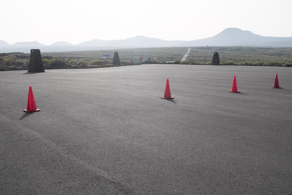 Parking des Jameos del Agua. Lanzarote.