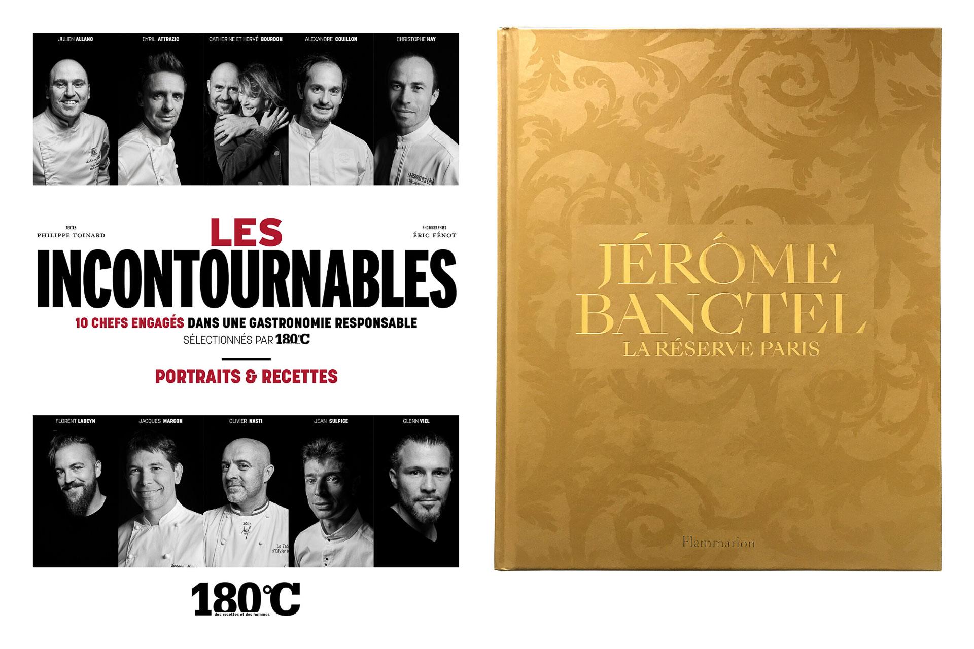 Couvertures livres Les Incontournables (180°C), Jérôme Banctel : La Réserve Paris © DR