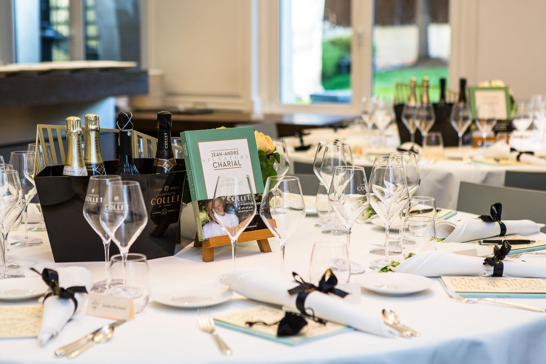 Si le mois de septembre est synonyme de rentrée des classes, il marque aussi la reprise des dîners organisés à Paris par le Champagne Collet pour décerner le Prix Champagne Collet du Livre de Chef, qui, chaque année depuis 2013, distingue l'ouvrage d'un chef. En 2018, Mauro Colagreco, 3-étoiles Michelin et meilleur restaurant du monde selon les 50 Best, avait été récompensé pour son livre « Mirazur » aux éditions Alain Ducasse.