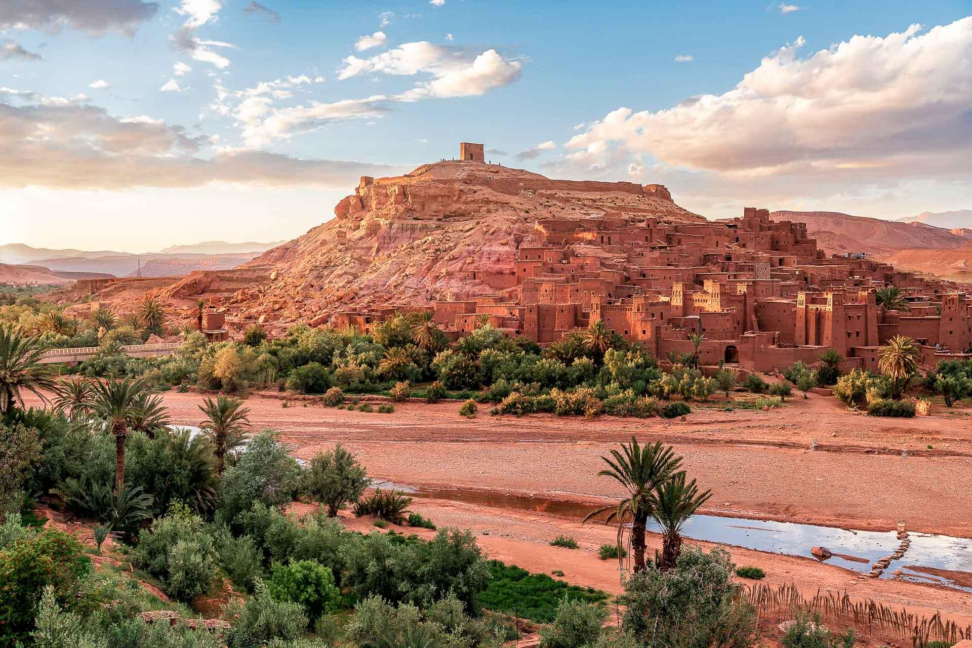 Ksar d'Aït-Ben-Haddou dans la province de Ouarzazate, un site inscrit sur la liste du patrimoine mondial de l'UNESCO © DR