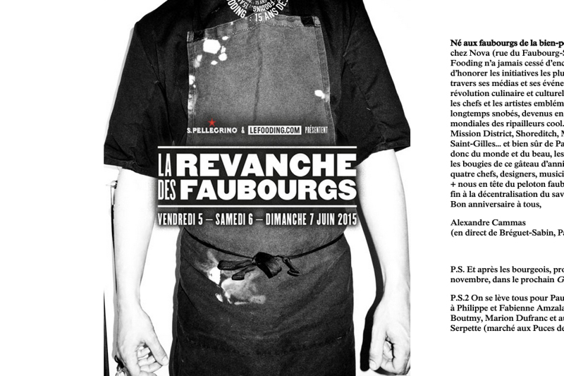Le Fooding fête ses 15 ans à Paris