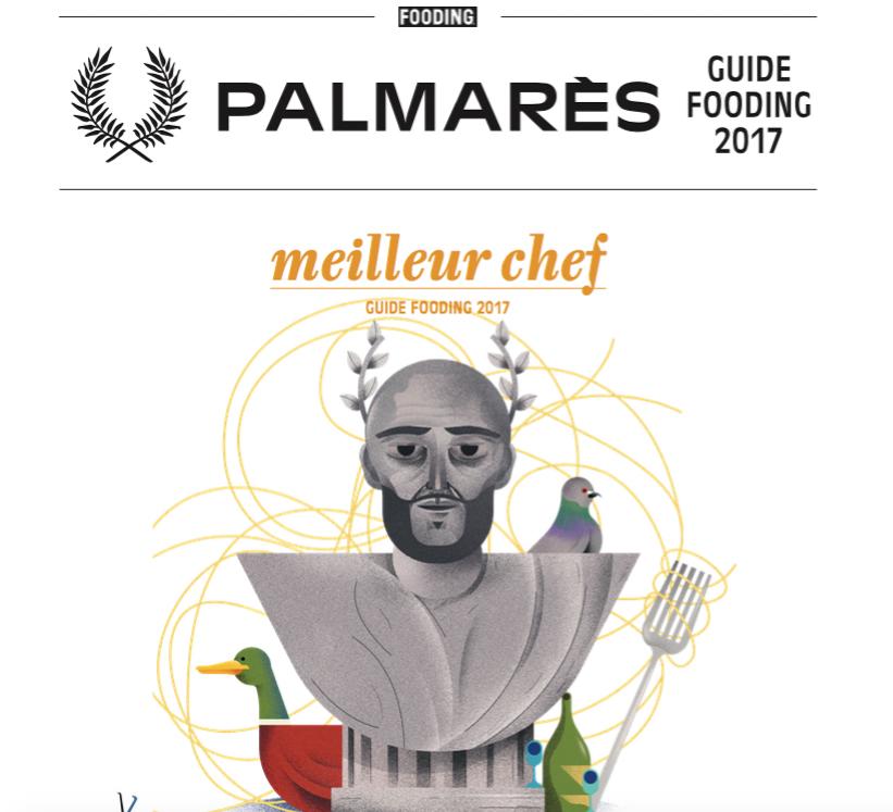 """Le chef italien installé à Paris Giovanni Passerini est le """"Meilleur Chef"""" du Fooding 2017"""