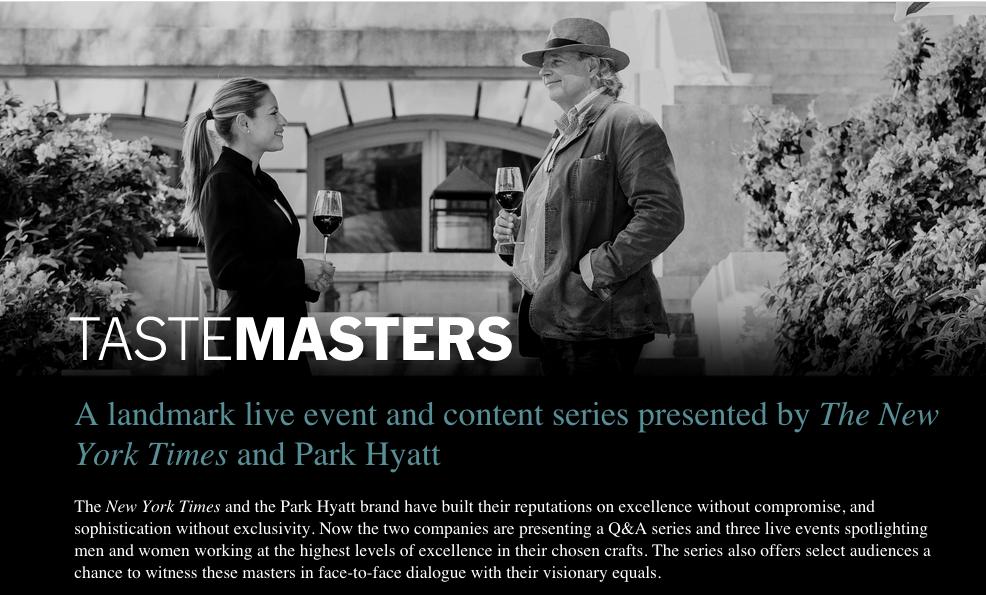 New York Times x Park Hyatt : les TasteMasters