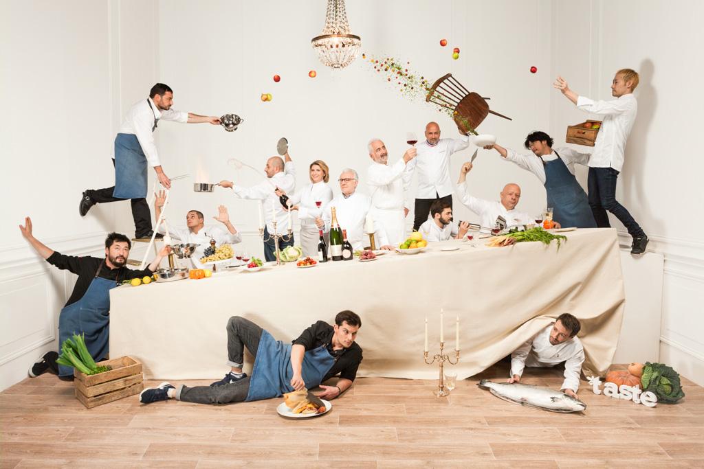 Les chefs participant à l'édition 2016 de Taste of Paris, dans une mise en scène originale © Taste of Paris