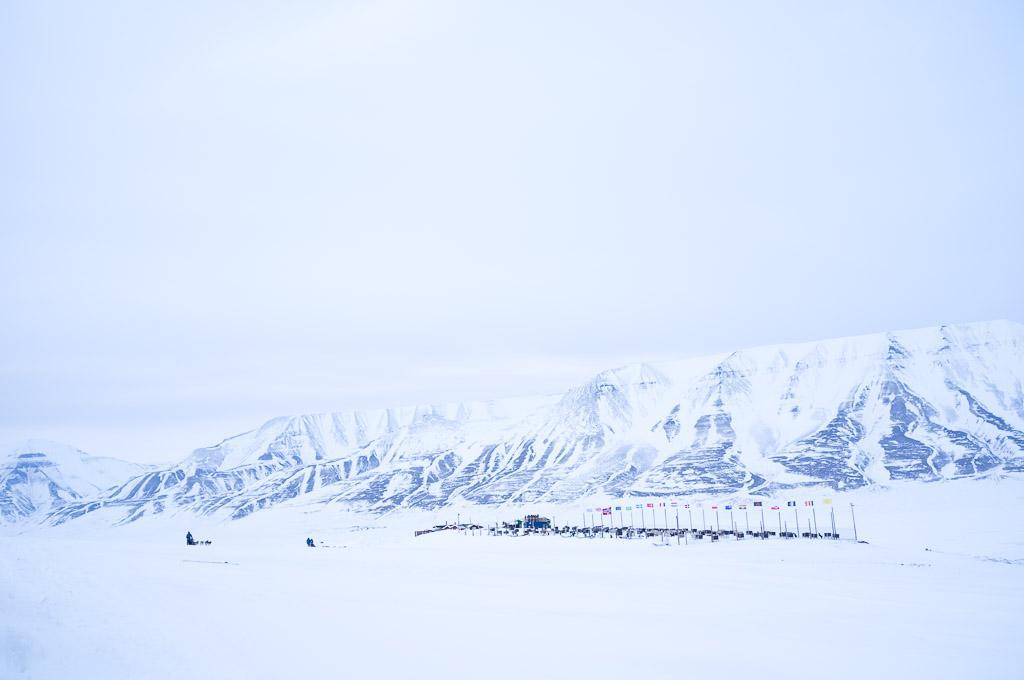 Le chenil de Green Dog, à l'entrée de Bolterdalen à environ 12km de Longyearbyen.