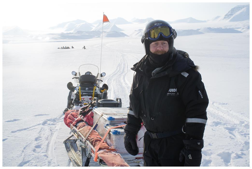 Notre sympathique guide norvégien lors d'une pause à proximité de Gronfjorden.
