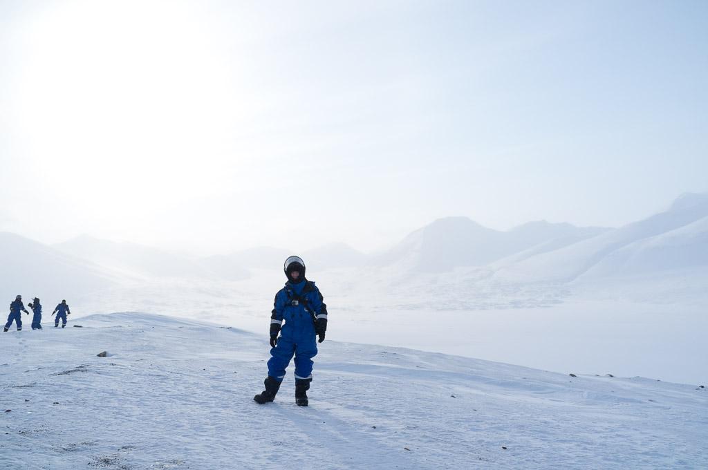 Pause sur le contrefort de Brentskarhaugen. De la neige immaculée à perte de vue !