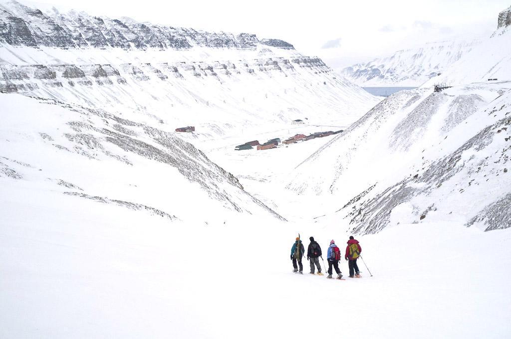 Redescente en direction de Longyearbyen.