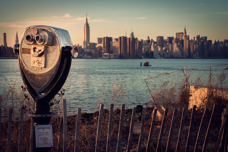 La skyline de Manhattan vue depuis Brooklyn