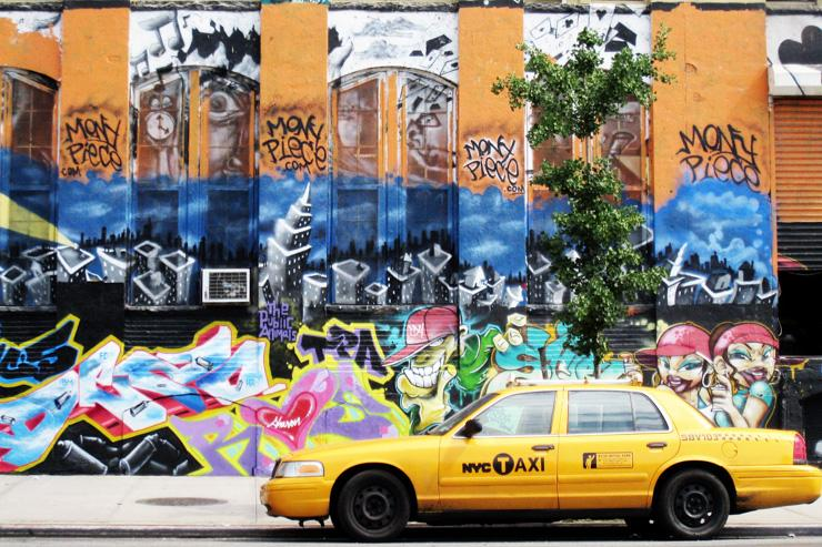 Scène de rue dans le Queens