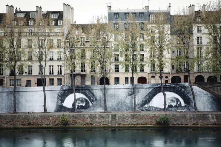 Paris, île Saint-Louis, Oeuvre de JR :