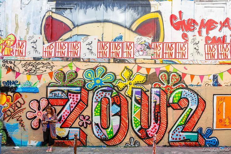 Street Art dans le quartier de Belleville