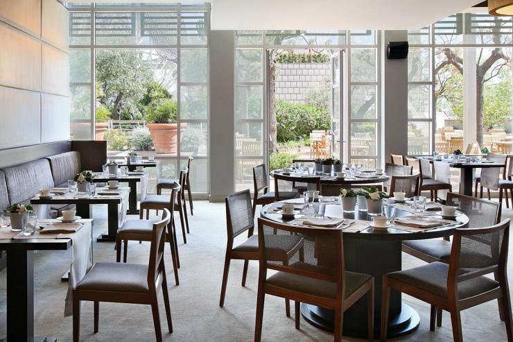 Café Veranda à l'Hotel Arts - Intérieur du café