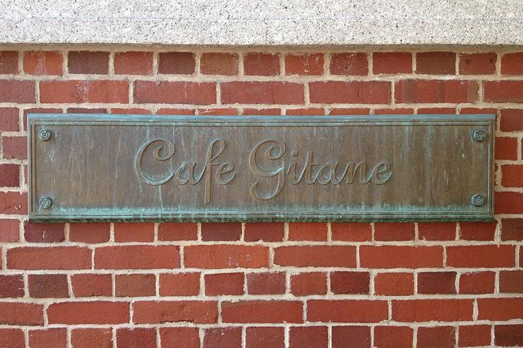 Café Gitane - Plaque extérieure
