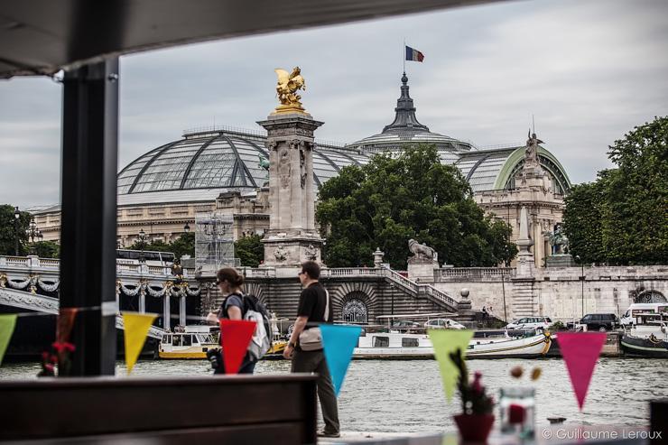 Vue du Grand Palais depuis la terrasse du Flow
