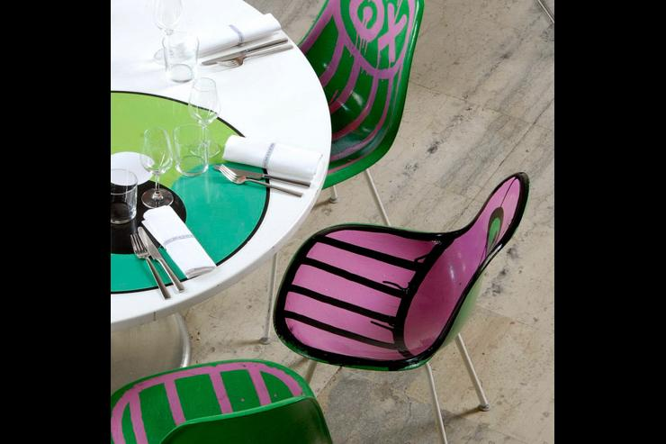 Les chaises déco du Tokyo Eat