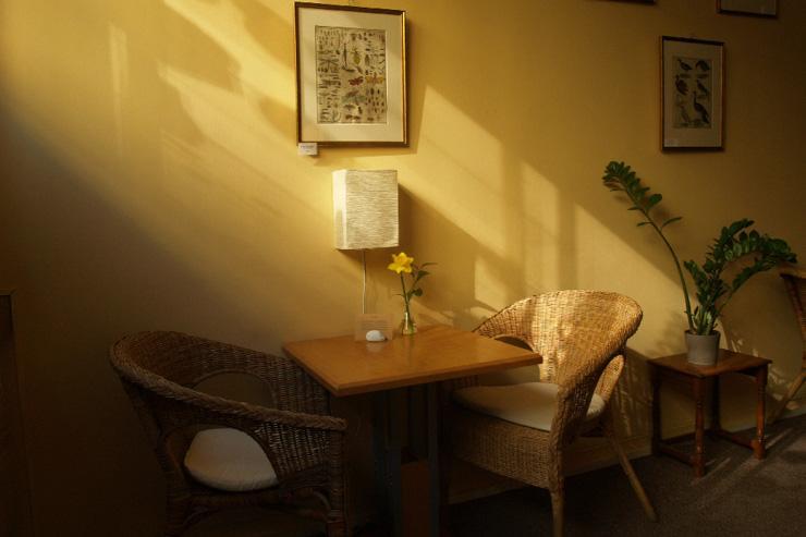 Čajovna V Síti - Les rayons de soleil pénètrent dans le salon de thé