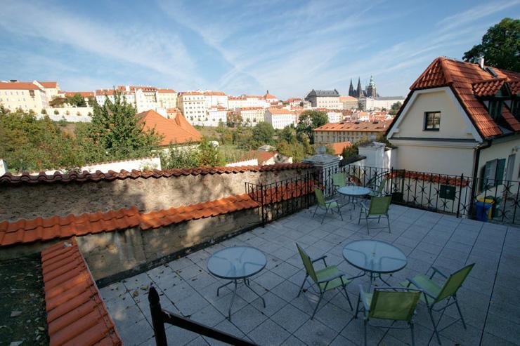 La terrasse du Garden Café Taussig