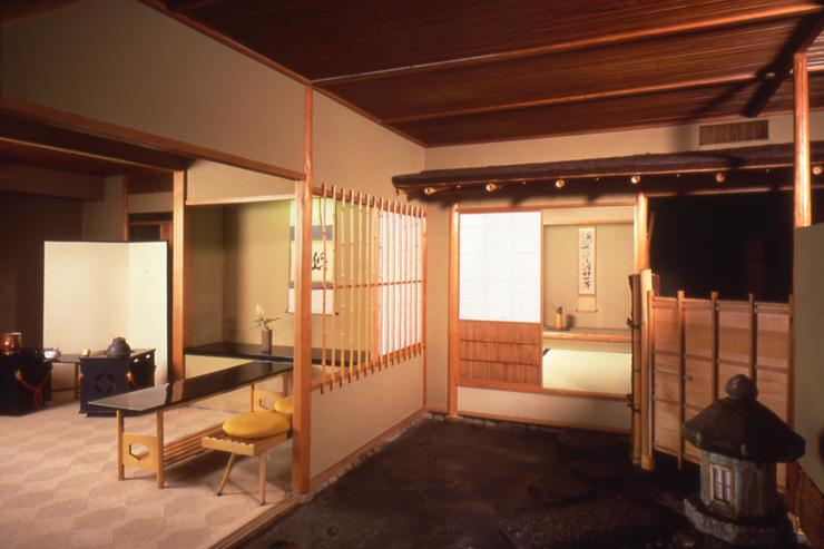 Chosho-an à l'Hotel Okura - Intérieur du salon de thé traditionnel