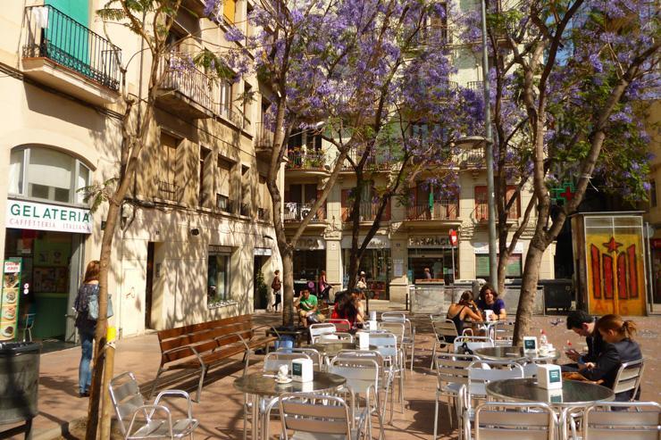 Terrasse dans le quartier de Gràcia