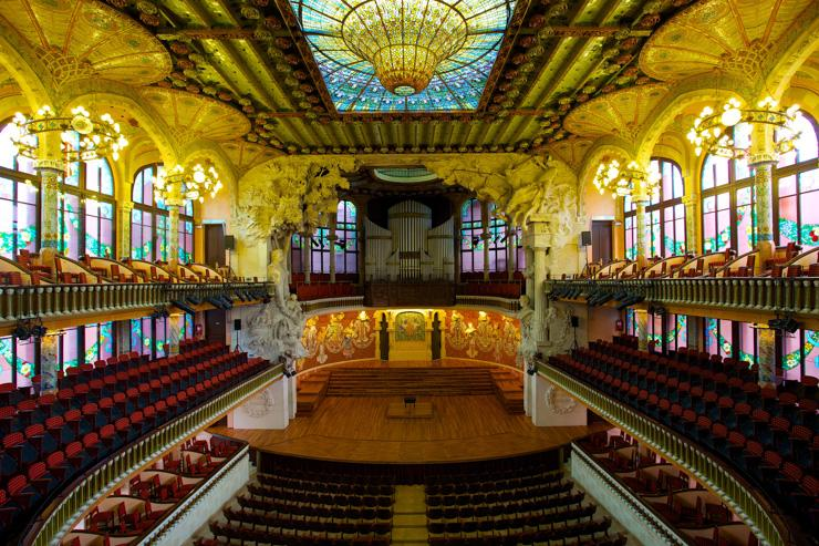 Palau Música Catalana - Intérieur de la salle de concert
