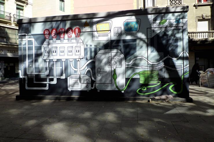 Street art dans le quartier du Raval
