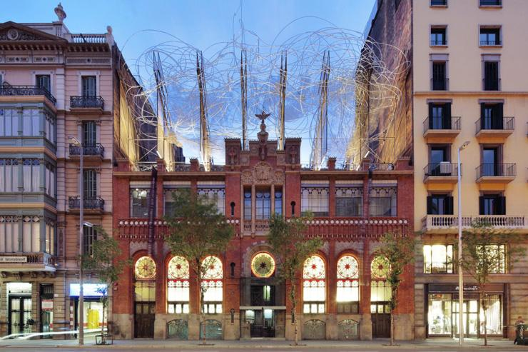 Fundació Antoni Tàpies - Extérieur du bâtiment abritant la Fondation