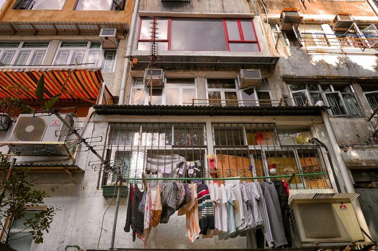 Dans le quartier de Sheung Wan à Hong Kong