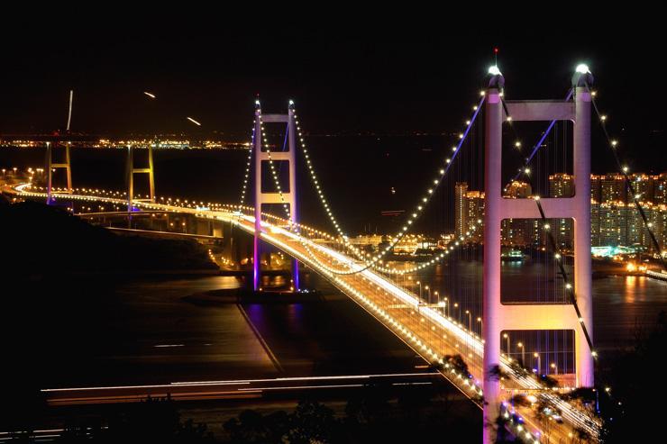 Pont Tsing Ma - Vue du pont
