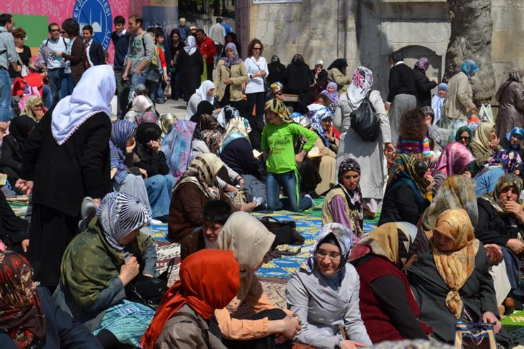 Fidèles à la Mosquée d'Eyüp