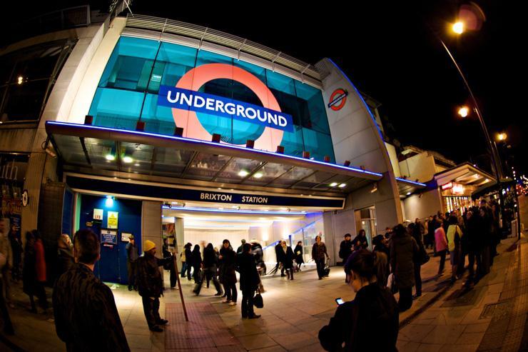 L'entrée du Tube à la station Brixton