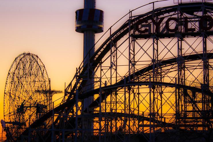 Coucher de soleil sur Coney Island