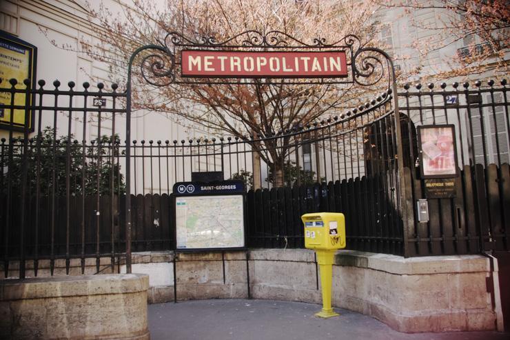Métro Saint-Georges dans le 9ème arrondissement