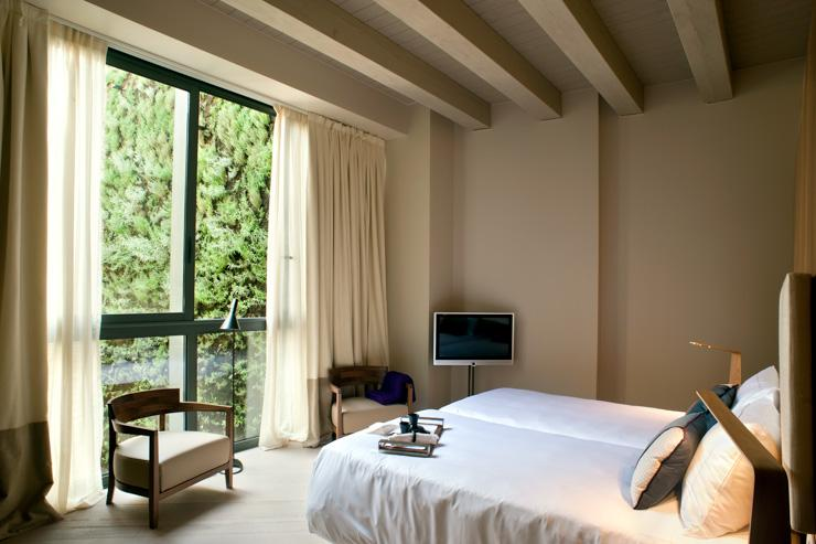 Mercer Hotel Barcelona - Chambre avec vue sur le mur végétal