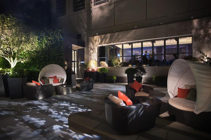 L'Hotel Elan - Terrasse