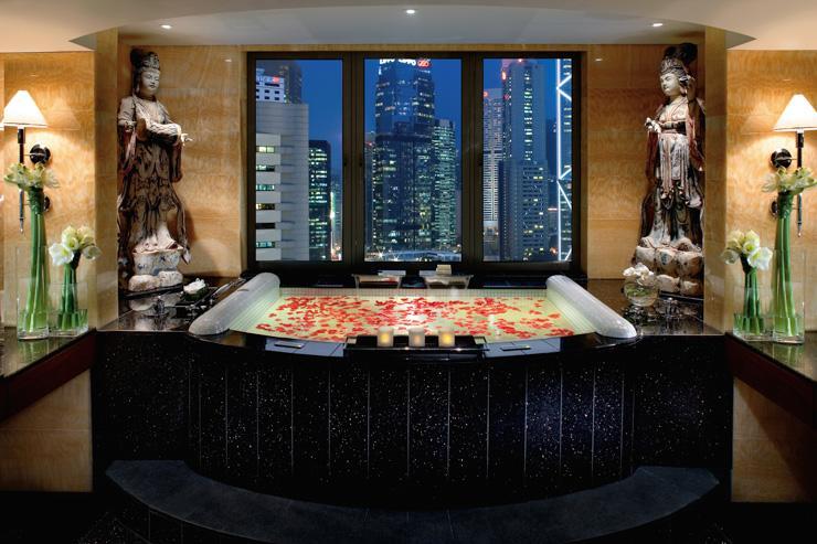 Mandarin Oriental Hong Kong - Salle de bain avec vue