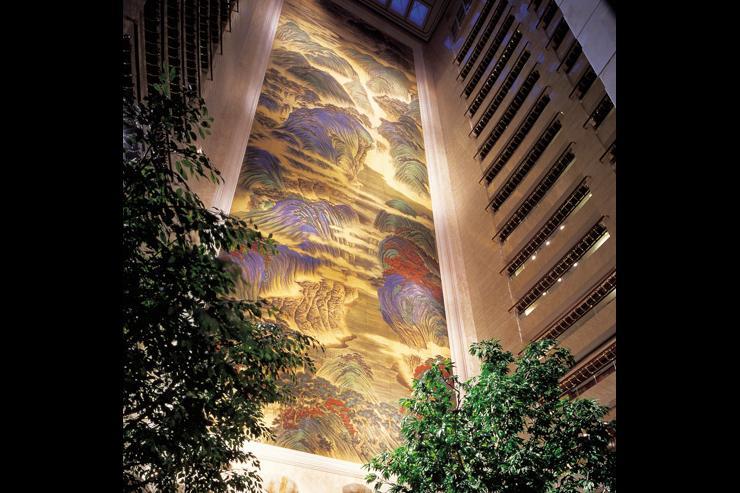 Island Shangri-La - Fresque peinte dans le lobby