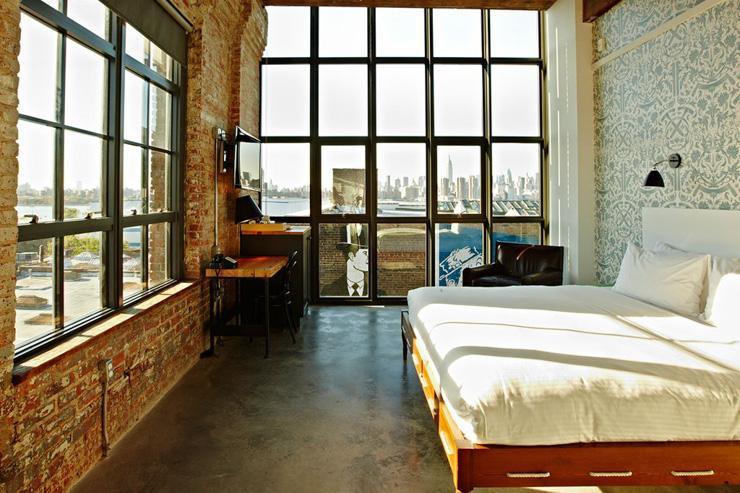 Wythe Hotel à Brooklyn - Chambre