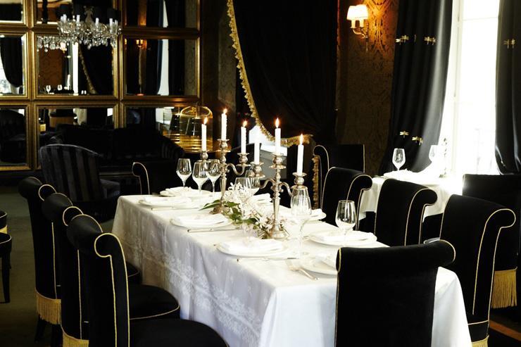 Le restaurant façon boudoir de l'Hôtel Particulier