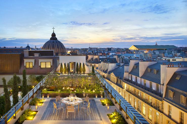 Mandarin Oriental Paris - Terrasse privée sur les toits de Paris