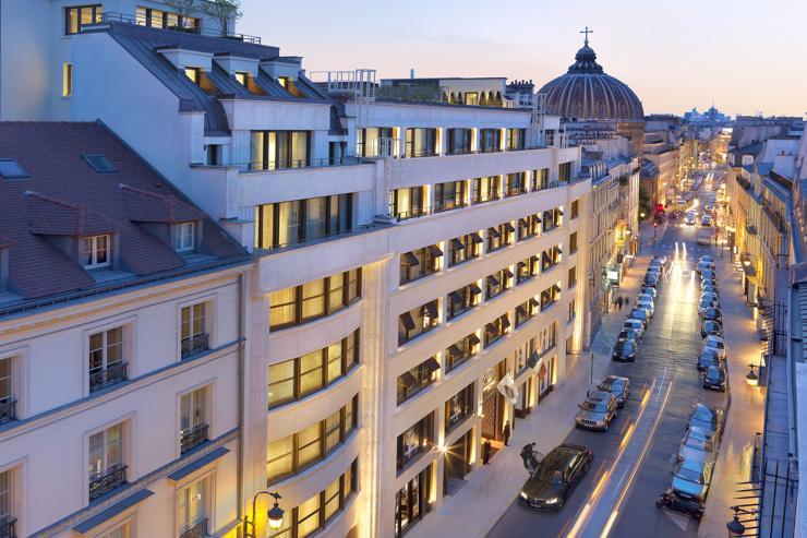 Mandarin Oriental Paris - Façade de l'hôtel rue Saint Honoré