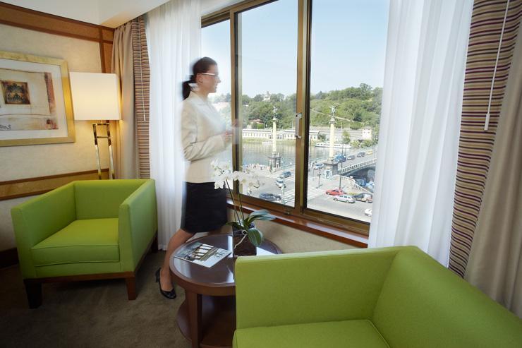 InterContinental Prague - Vue sur la Vltava depuis une chambre