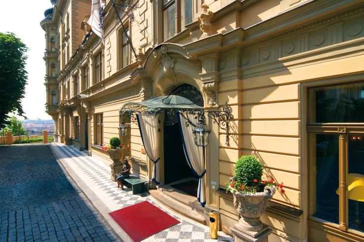Le Palais Hotel à Prague - Entrée de l'hôtel