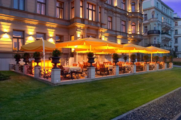 Le Palais Hotel à Prague - Terrasse de l'hôtel