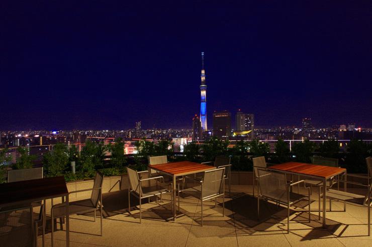 The Gate Hotel Kaminarimon - La terrasse du 14ème étage avec vue le Skytree