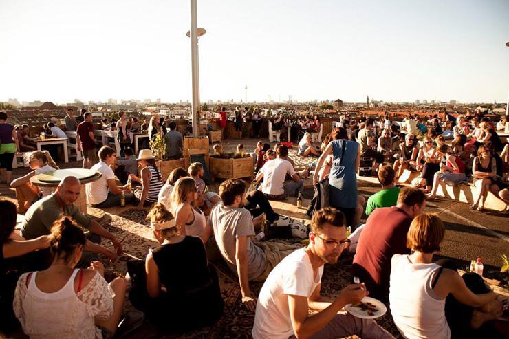 Klunkerkranich - Le rooftop attire les foules
