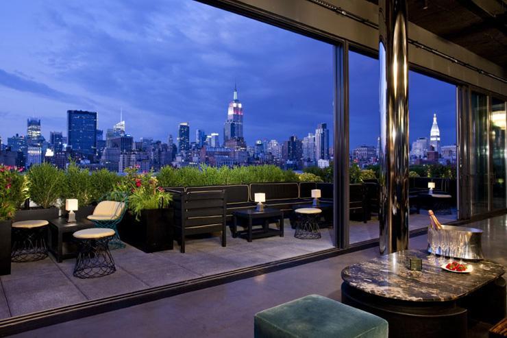 PH-D Rooftop Lounge at Dream Downtown - Terrasse avec vue