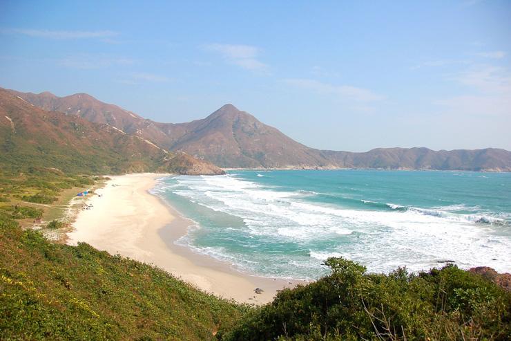 Tai Long Wan Beach - Plage paradisiaque à Hong Kong