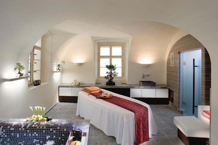 Cabine de soin au spa du Mandarin Oriental Prague