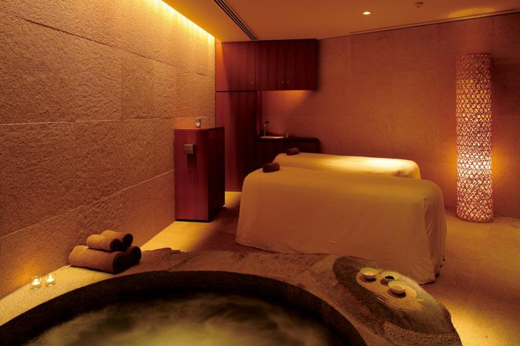 Nagomi Spa and Fitness au Grand Hyatt Tokyo - Cabine de soin double avec jacuzzi